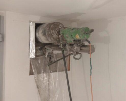 Бурение стен под вентиляцию заказать